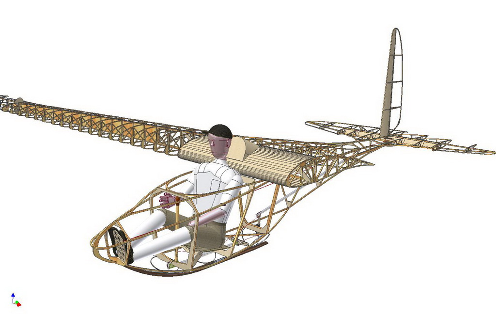flugzeug cad modell